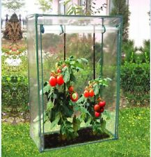 NEW TOMATO GREENHOUSE WITH PVC COVER ROLL UP DOOR AND ZIP FASTENERS