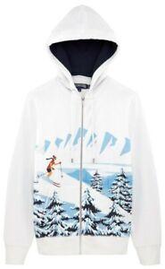NWT VILEBREQUIN Men's Ski Resort Hoody Fleece Sweater White XXL FABULOUS LUXURY