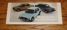 Original 1982 Volkswagen VW Full Line Sales Brochure 82 Jetta Vanagon Pickup