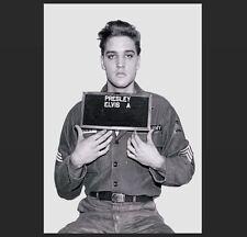 Elvis Presley Mug Shot US Army PHOTO, Art Print Soldier Rock 'n Roll Legend ID