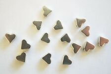 40 Antique Silver Heart Spacer Beads  - 5mm