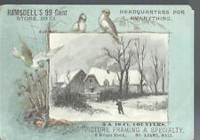 c1890 RAMSDELL'S 99 Cent Store North Adams MA Embosed  Victorian Trade Card