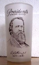 PRESIDENTS From OHIO GAY FAD 12 oz Frosted Glass Tumbler - RUTHERFORD B HAYES