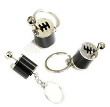 (1) Chrome Finish Gear Box Shifter Key Chain Fob Ring Keychain For Car (Fits: Saab)
