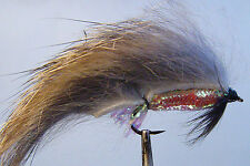 1 x Mouche Peche Streamer Zonker Naturel H8/10/12 alevin natural fly tying