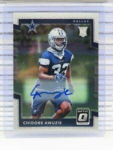 2017 Donruss Optic Chidobe Awuzie Rookie Auto Autograph RC Cowboys W54
