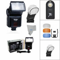 XENON PRO FLASH + 3 HD DIFFUSERS FOR NIKON D3000 D3100 D3200 D3300 D5000 D5100