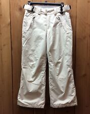Columbia Omni-Tech Youth Waterproof 10/12 Snow Ski Pants Beige Breathable