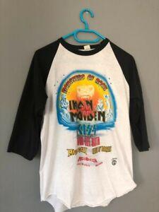 Original Vitage Tour T Shirt Monsters of Rock 1988 (Iron Maiden, Kiss, Guns)