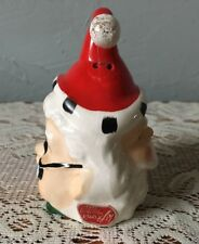 Vintage Lefton Christmas Bell Santa / Mrs. Claus Two Faced Japan #1382