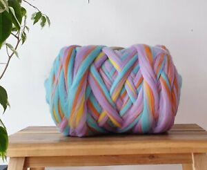 Unicorn Melange* 100% Merino Wool Giant Yarn Extreme Arm Knitting, 200g - 1kg