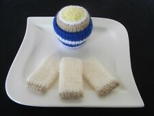 Hand Knitted Boiled Egg & 3 Dippy Soldiers - Toy Food