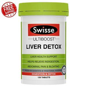 Swisse Ultiboost Liver Digestion Detox 120 Tablets for Lever Health Support