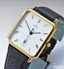 GOLANA SWISS Tank Saphire Calendar Herren Armbanduhr 90er Jahre