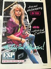 1988 VINTAGE 5X8 PRINT AD FOR ESP HORIZON CUSTOM ADRIAN VANDENBERG OF WHITESNAKE