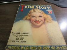 VINTAGE - TRUE STORY - DEC 1935  -  MARIA GAMBARELLI   - EXCELLENT