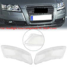 2PCS Car Headlight Lens Lampshade PC Shell Cover For 2006-2011 Audi A6 C6