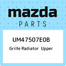 UM47507E0B Mazda Grille radiator upper UM47507E0B, New Genuine OEM Part