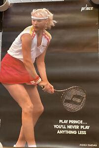RARE! Vintage 80's Prince Tennis Poster Andrea Temesvari by Fred Mullane 27 x 18