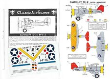 CLASSIC AIRFRAMES DECALC /STIKERS CURTISS F11C-2 / BFC-2 1/48
