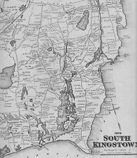 South Kingstown Judith Point Wakefield  RI 1870 Maps w/ Homeowners Names Shown