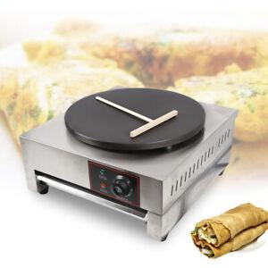"16"" Commercial Electric Crepe Maker Pancake Machine Single Hotplate Non Stick"
