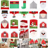 Christmas Santa Hat Dining Chair Back Covers Xmas Party Dinner Table Decoration