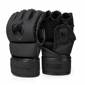 Liberlupus MMA Gloves for Men & Women Kickboxing Gloves with Open Palms Boxin...