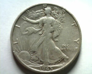 1945-S WALKING LIBERTY HALF VERY FINE/EXTRA FINE+ VF/XF VERY FINE/EXTREMELY FINE
