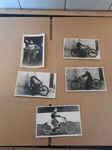 Vintage Speedway Photo Photocards Mills Jay Bravery Spencer Parker 1945