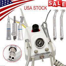 Dental Portable Turbine Unit 4 Hole work w/ Compressor +High Low Speed Handpiece