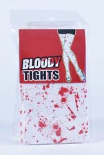 Halloween White Bloody Blood Stained Tights Fancy Dress Zombie Nurse Costume