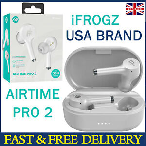 iFrogz Airtime Pro 2 WHITE Wireless Earbuds Cheap Headphones Bluetooth 5.0 IPX5