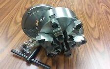 """6"""" 6-JAW SELF-CENTERING  LATHE CHUCK, top&bottom jaws, w. L00 adapter back plate"""