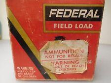 VINTAGE Federal Field Load 20GA.shot gun  SHELL BOX -- EMPTY
