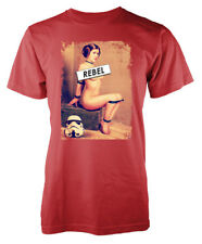 Star Wars inspired Rebel Princess Leia Naughty Trooper Adult T-Shirt