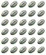 30 x topper di palline di rugby cupcake wafer commestibile Carta Fata Cake Topper