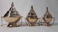 BRASS HANGING BURNER CHARCOAL RESIN INCENSE (3 SIZE) FREE SHIPPING