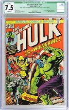 Incredible Hulk #181 CGC 7.5 1st app Wolverine Qualified Grade no MVS