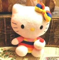 """Hello Kitty Plush Sanrio TY 6"""" stuffed animal toy"""