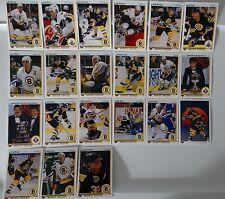 1990-91 Upper Deck UD Boston Bruins Team Set of 21 Hockey Cards
