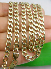 Solid Bevelled Curb Chain Necklace 63cm Length Genuine 375 9ct 9k Yellow Gold