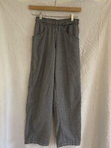 "Uncommon Threads Women's Black & White Checkered Chef Pants XS 33"""
