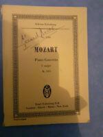 N°1206 - Piano Concerto - Wolfgang Amadeus Mozart - Edizione Eulenburg