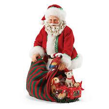 4057098 Dept 56 Possible Dreams Pet Vet Santa Claus Parrot Cat Bunny Fish Snake