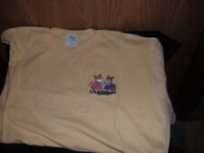 Pembroke Welsh Corgi Club Of Garden State Yellow T-Shirt Embroidered Corgis Sm.