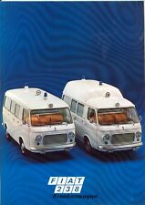 Fiat 238 Ambulance Krankenwagen German market sales brochure - blue