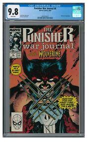 Punisher War Journal #6 (1989) Iconic Jim Lee Wolverine Cover CGC 9.8 ZZ041