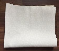 Faux Leather Fabric White Floral Print Large Sample Fashion Sketchbook Upholster