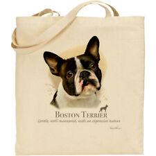 Boston Terrier Perro Howard Robinson Reutilizable De Algodón Bolso de compras